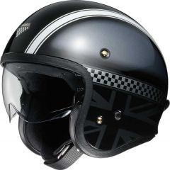 Shoei J.O. Open Face Helmet Hawker  Grey